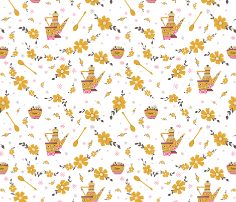Coffee Pot fabric by lauramarshdesigns on Spoonflower - custom fabric