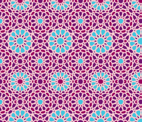 Geo Floral Purple fabric by weebeastiecreations on Spoonflower - custom fabric