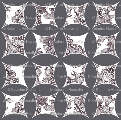 cathedral window lace grey