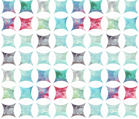 watercolor cathedral window white fabric by katarina on Spoonflower - custom fabric