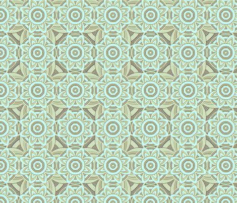 starstruck aqua mint fabric by glimmericks on Spoonflower - custom fabric