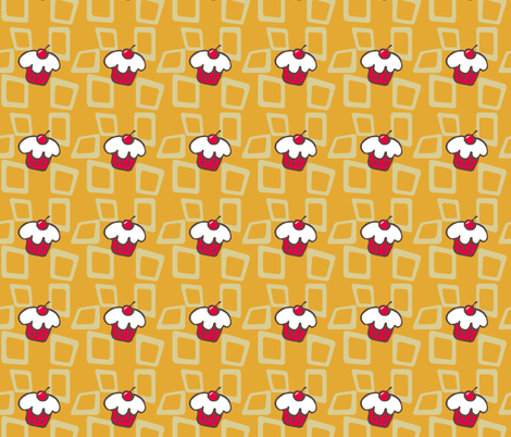 Cupcake_Retro fabric by mammajamma on Spoonflower - custom fabric
