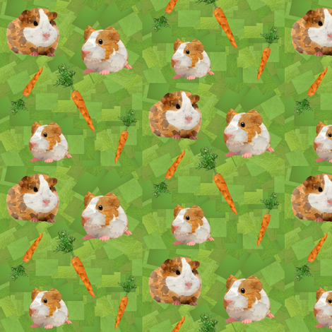 Guinea Pigs fabric by lusykoror on Spoonflower - custom fabric