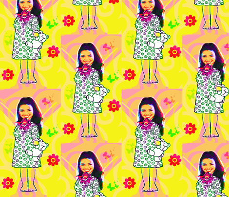 My Girl Fabric by E. van de Craats May 2012 fabric by _vandecraats on Spoonflower - custom fabric