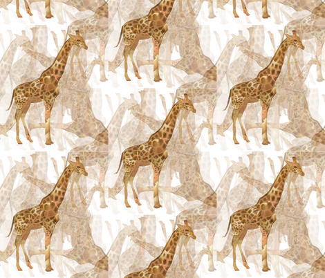 Giraffe! fabric by lusykoror on Spoonflower - custom fabric