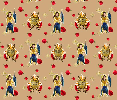 Saint Joan of Arc fabric by magneticcatholic on Spoonflower - custom fabric