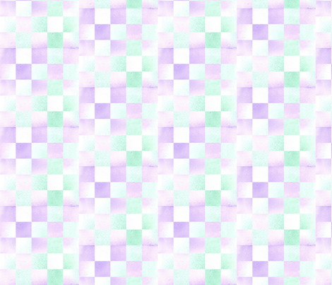Lavender Green Check fabric by countrygarden on Spoonflower - custom fabric