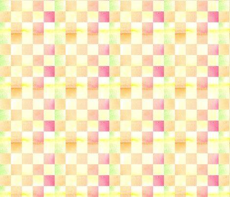 Orange Creme Check fabric by countrygarden on Spoonflower - custom fabric