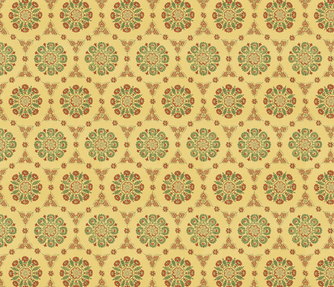 Medieval Rounds fabric by wombatgirl on Spoonflower - custom fabric