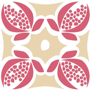 Pomegranate Vintage Square