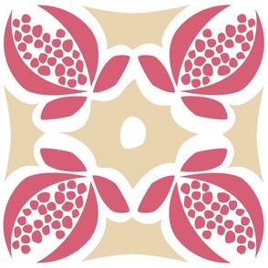 Pomegranate Vintage Square