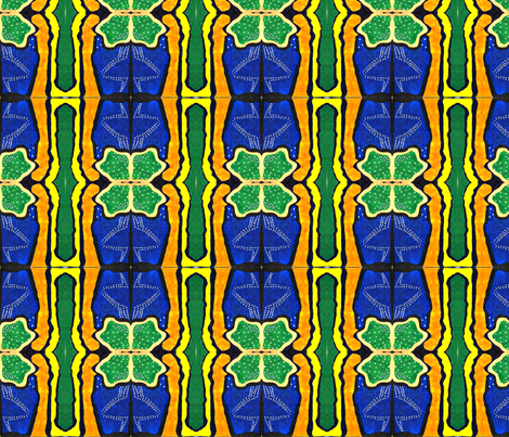 Mariam Cosmos fabric by fabricbydaelight on Spoonflower - custom fabric