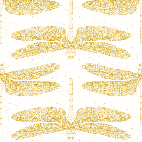 dragonfly gold fabric by keweenawchris on Spoonflower - custom fabric