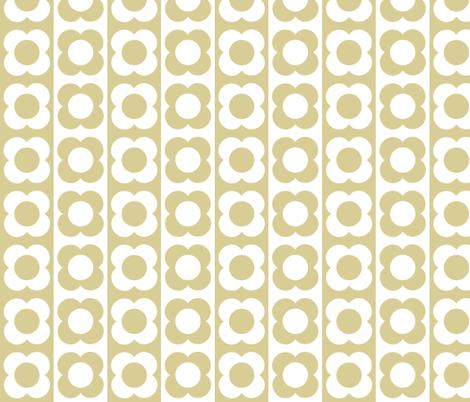 Retro Flower Beige White fabric by shelleymade on Spoonflower - custom fabric