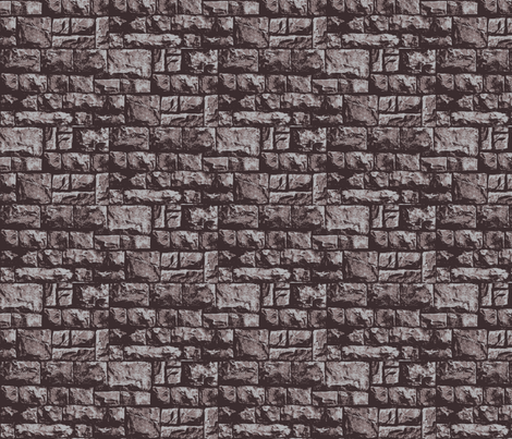 castle wall fabric by mysticalarts on Spoonflower - custom fabric