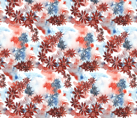 Flowers_in_the_clouds fabric by art_on_fabric on Spoonflower - custom fabric