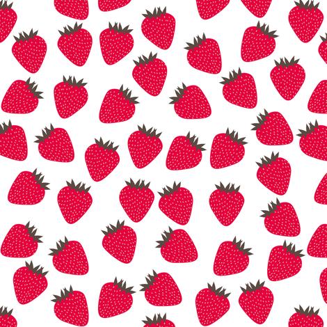 Retro Strawberries fabric by shelleymade on Spoonflower - custom fabric