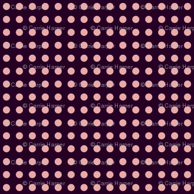 pink dots on purple