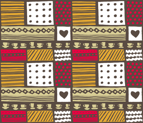 retro_kitchen5 fabric by katja_saburova on Spoonflower - custom fabric