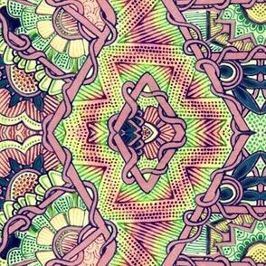 Zig Zag Diamond Hippie Stripe
