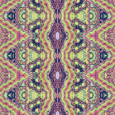 Pseudo Batik Tie Dye Hippie Guru Cloth fabric by edsel2084 on Spoonflower - custom fabric