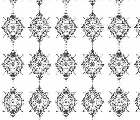 mirror_flight_by_isis_sophia fabric by moon_&_magic on Spoonflower - custom fabric