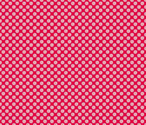 retro_kitchen_co-ordinates_daisy fabric by pavlovais on Spoonflower - custom fabric