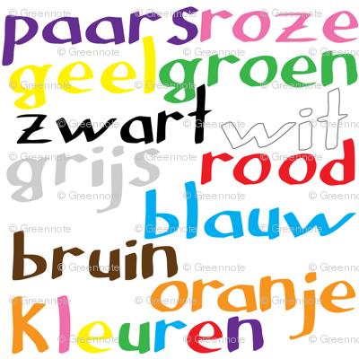 Dutch Colour Words
