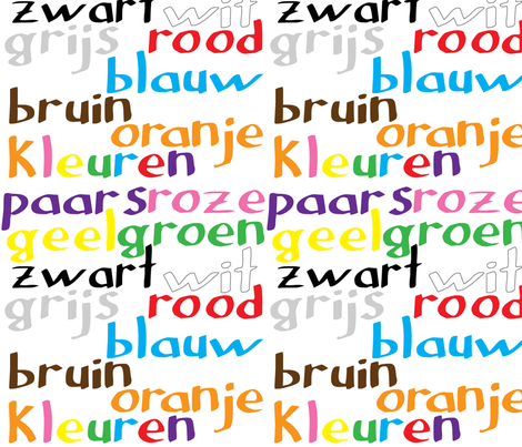 Dutch Colour Words fabric by greennote on Spoonflower - custom fabric