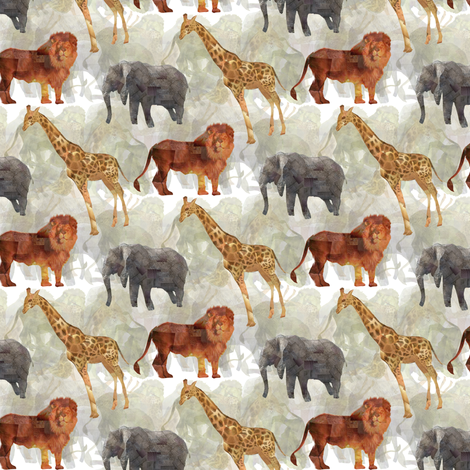 African Safari fabric by lusykoror on Spoonflower - custom fabric