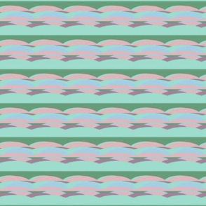 paysage sur linge
