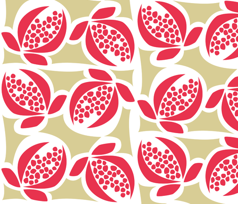 Pomegranate Vintage  fabric by vitabella on Spoonflower - custom fabric