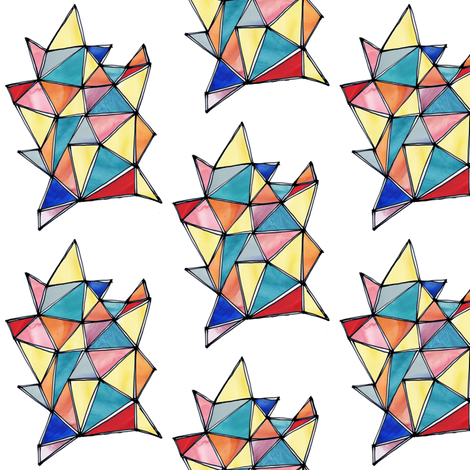 Faceted Fun (multi) fabric by cheekytree on Spoonflower - custom fabric