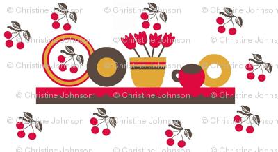 cherry kitchen / shelf