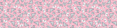Pink and Gray Butterfly Ditsy Garden Toile  ©2011 by Jane Walker
