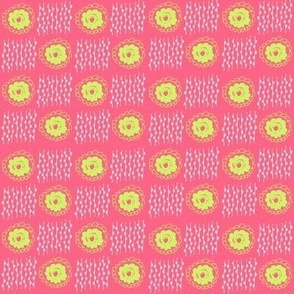 hot pink and acid green doodles