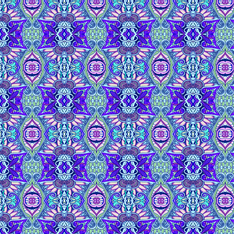 A Most Decorated Daisy fabric by edsel2084 on Spoonflower - custom fabric