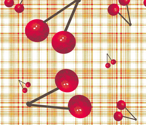 cerises_spoonflower fabric by sandrinette on Spoonflower - custom fabric