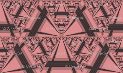 Apricot Sierpinsky Triangles © Gingezel™ 2012