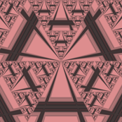 Apricot Sierpinsky Triangles © Gingezel™ 2012