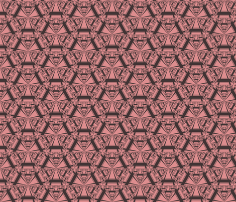 Apricot Sierpinsky Triangles © Gingezel™ 2012 fabric by gingezel on Spoonflower - custom fabric