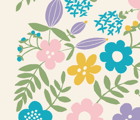 Floral Backdrop fabric by la_belle_ligne on Spoonflower - custom fabric