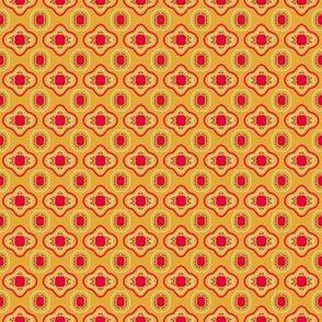 Gold Rose Khaki Cream Mosaic