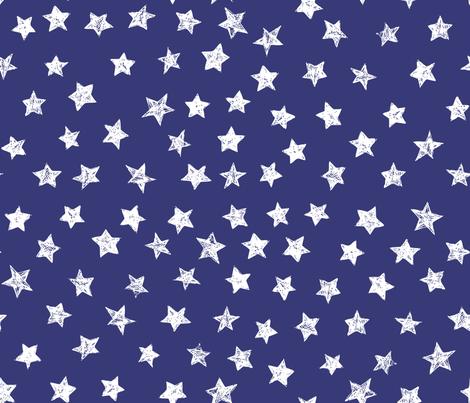 Ducky White Stars over Blue fabric by bzbdesigner on Spoonflower - custom fabric