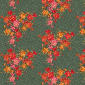 Exotic floral pattern