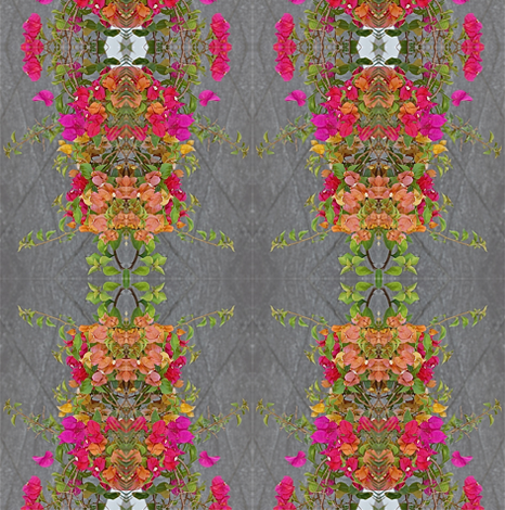 Bougainville Fantasy Stripe fabric by zsmama on Spoonflower - custom fabric