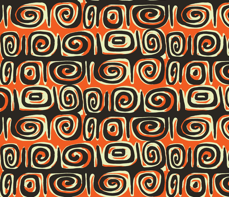 Absratciva, Matuku strip, molten lava fabric by sophista-tiki_by_dawn_frasier on Spoonflower - custom fabric