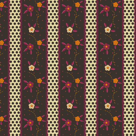 Folksy Floral Ribbon Stripes fabric by eppiepeppercorn on Spoonflower - custom fabric
