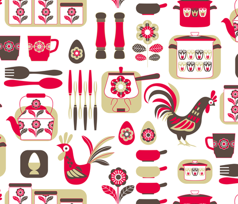 Retro bliss fabric by cjldesigns on Spoonflower - custom fabric
