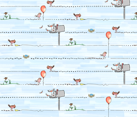 A Little Birdy told me ... fabric by jmckinniss on Spoonflower - custom fabric